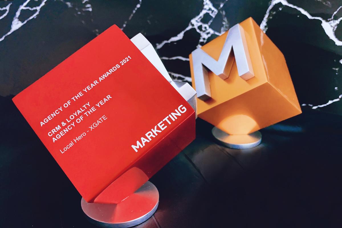 XGATE wins Gold at the Agency of the Year Awards 2021 Hong Kong