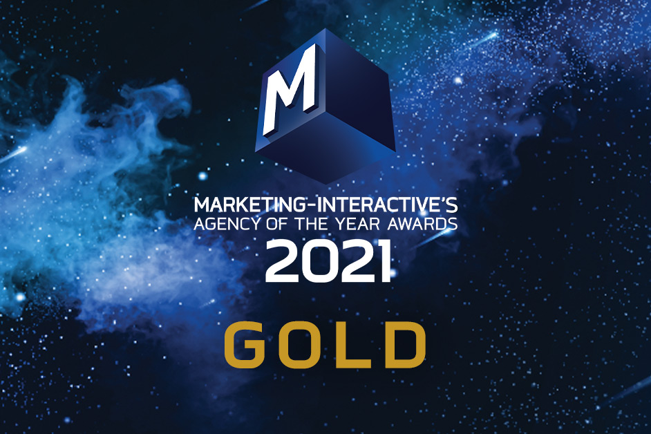 XGATE comes back with a Gold at Agency of the Year 2021 in Singapore